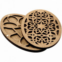 Узор цветок, органайзер для бусин и бисера с деревянной крышкой 16ячеек 12х19,5см фанера ВС