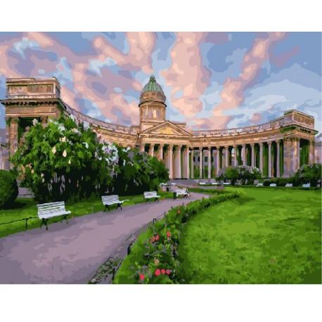 Казанский собор, картина по номерам на холсте 40х50см 27цв Original