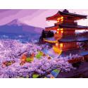 Пагоды над сакурой, картина по номерам на холсте 40х50см 24цв Original