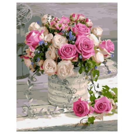Букет из роз, картина по номерам на холсте 40х50см 24цв Original