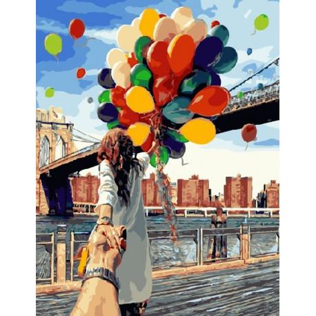 Следуй за мной.Бруклин, картина по номерам на холсте 40х50см 27цв Original