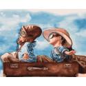 Счастливое детство, картина по номерам на холсте 40х50см 28цв Original