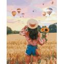 Наблюдая за воздушными шарами, картина по номерам на холсте 40х50см 28цв Original