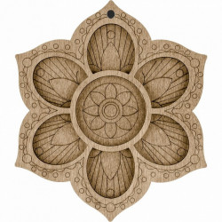 Цветок, органайзер для бусин и бисера с магнитом 7ячеек 13,5х15,5см фанера ВС