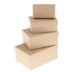 Прямоугольная коробка картонная средняя крафт 13*9*6см