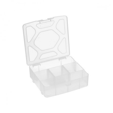 Коробка пластик для швейных принадлежностей 5ячеек, 14х13,5х4,2см