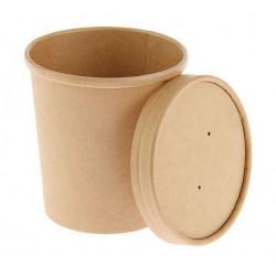 Крафт, бумажный стакан с крышкой, 7х7х8,5см