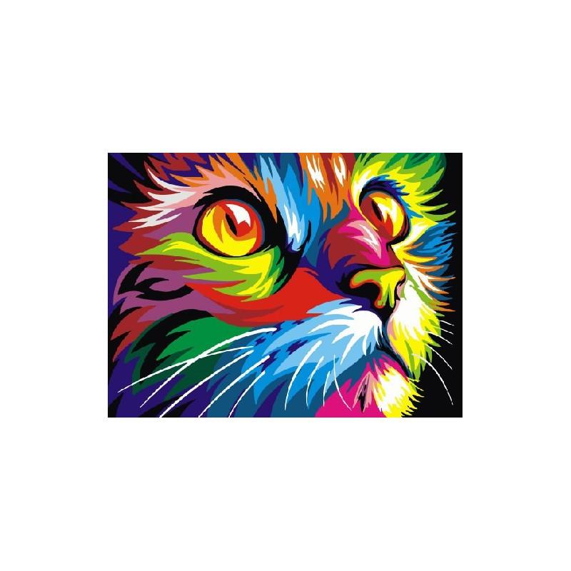 Радужный кот Ваю Ромдони, раскраска по номерам на холсте ...