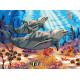 Красочный мир дельфинов, картина по номерам на холсте 30х40см 24цв Original
