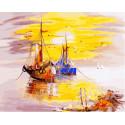 Рыбацкие судна, картина по номерам на холсте 40х50см 26цв Original