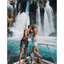 Водопады любви, картина по номерам на холсте 40х50см 28цв Original