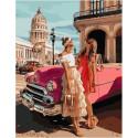 С подругой на Кубе, картина по номерам на холсте 40х50см 26цв Original