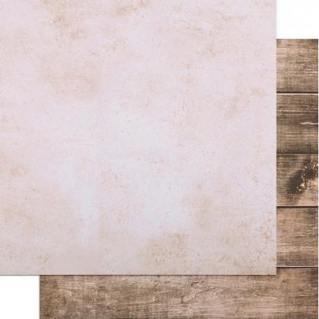 Доски-Кремовая штукатурка, фотофон двусторонний 45х45см картон
