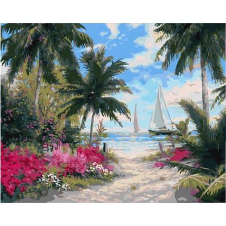 Манящий путь к морю, картина по номерам на холсте 40х50см 27цв Original
