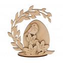 Яйцо Пасхальное, заготовка для декорирования фанера 3мм 13х10cм Mr.Carving
