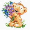 Поздравляю!, набор для вышивания крестиком 11х12см 18цветов Алиса