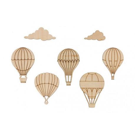 Воздушные шары(7шт), заготовка для декорирования фанера 3мм 4,5-5,2cм Mr.Carving