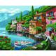 Тихая гавань, картина по номерам+мозаика на холсте 40х50см 28/20цв Original