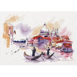 Путешествие по Венеции, набор для вышивания крестиком, 32,5x23.5см, 29цветов Panna