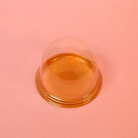 Контейнер с куполом (подложка золотистая+купол прозрачный)