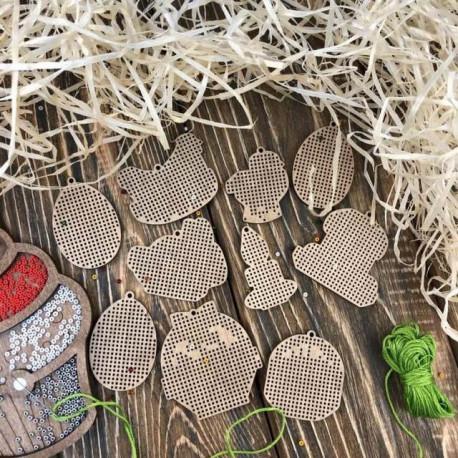 Набор заготовок для вышивания, перфорированная основа двп, 20 штук ВС