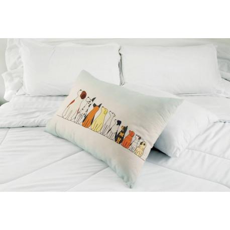 Лохматики, декоративная наволочка на подушку38Х58см холст, Матрёнин посад
