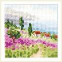 Лаванда у моря, набор для вышивания крестиком, 7х7см, 16цветов Алиса