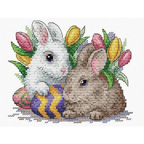 Пушистые друзья, набор для вышивания 17х20см 19цветов Жар-птица
