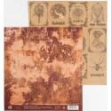 Восстание машин, односторонняя бумага для скрапбукинга крафтовая 20,5*21,5см 180г/м
