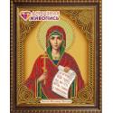 Наталия Святая икона, набор для изготовления картины стразами 22х28см 8цв. частичная выкладка АЖ