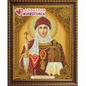 Ольга Святая Княгиня икона, набор для изготовления картины стразами 22х28см 7цв. частичная выкладка