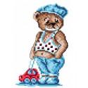 Тедди, канва с рисунком для вышивки нитками 16х20см. Матрёнин посад