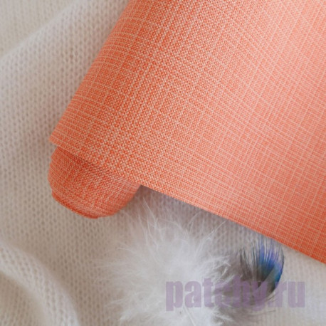 Оранжевый, переплетный кожзам Zephyr для скрапбукинга 33х70(±1см) Италия