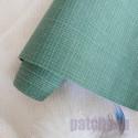 Темно зеленый, переплетный кожзам Zephyr для скрапбукинга 33х70(±1см) Италия