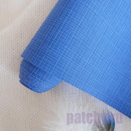 Синий, переплетный кожзам Zephyr для скрапбукинга 33х70(±1см) Италия