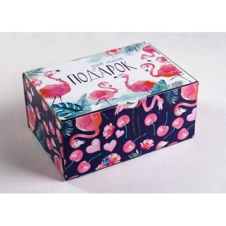 Для тебя подарок, коробка складная 22х15х10см картон