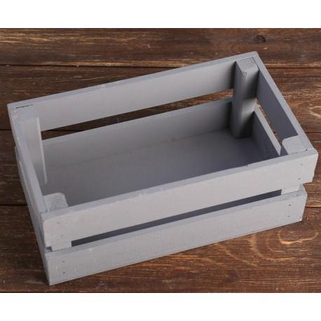 Серый, ящик реечный, 24,5х13,5х9см SL