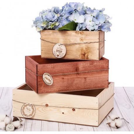 Ящик средний деревянный, 25х16х10см SL