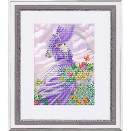 Радуга, ткань с рисунком для вышивки бисером 26х20см. Благовест