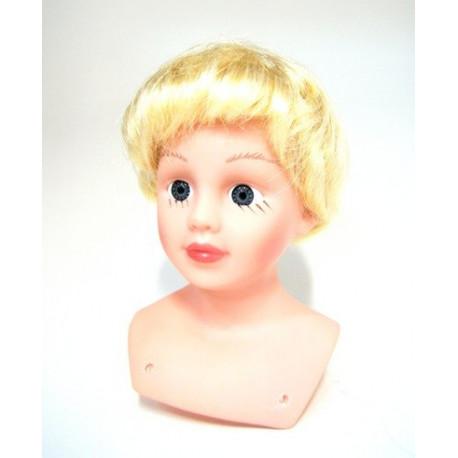 Блонд, прямые короткие, волосы для кукол П80
