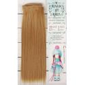 Русый, прямые волосы для кукол 25см на трессе 100см цв.№27 SL