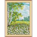 Хоровод ромашек, набор для вышивания 26х18см 13цветов Жар-птица