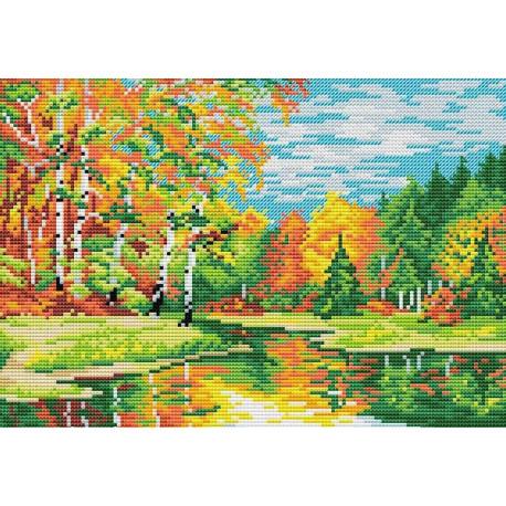 Светлой осени дыханье, набор для вышивания 18х26см 17цветов Жар-птица