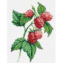 Веточка малины, набор для вышивания 18х15см 10цветов Жар-птица