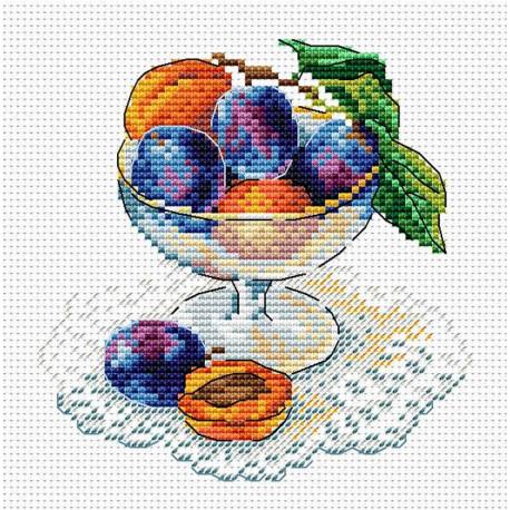 Вкус ягод, набор для вышивания 15х15см 24цвета Жар-птица
