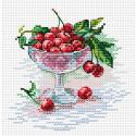 Вишневое удовольствие, набор для вышивания 15х15см 13цветов Жар-птица