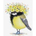 Солнечная пташка, набор для вышивания 18х15см 15цветов Жар-птица