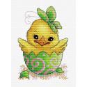 Пасхальный цыпленок, набор для вышивания 18х13см 13цветов Жар-птица
