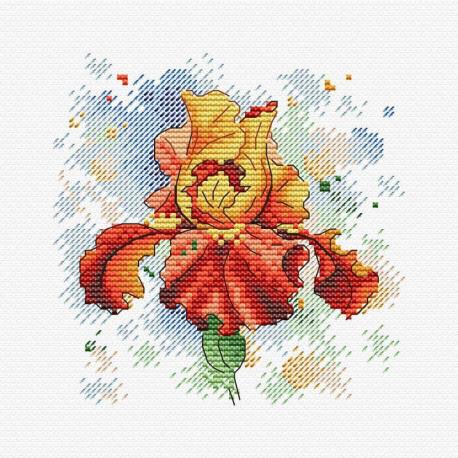 Страстное очарование, набор для вышивания 12х12см 13цветов Жар-птица