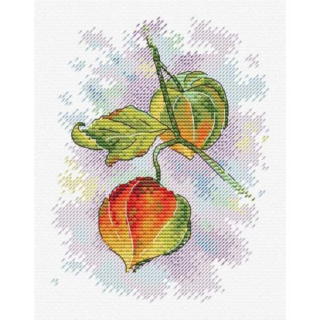 Осеннее настроение, набор для вышивания 16х12см 15цветов Жар-птица